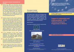 Support to preparation and implementation of EU Technical Assistance Programmes in Belarus - 1
